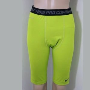 Nike Pro Combat Compression Shorts Lime Running L